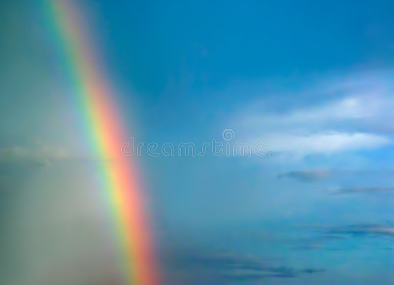 彩虹天空 库存图片
