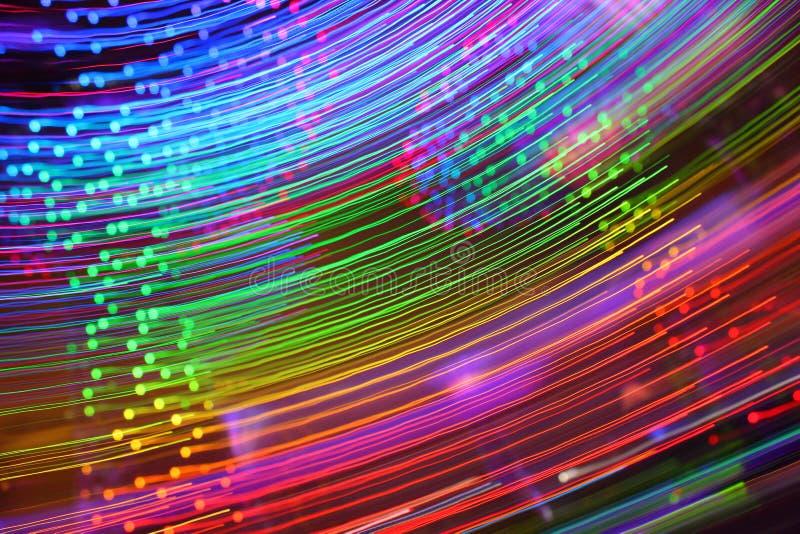 彩虹抽象轻的条纹 库存照片