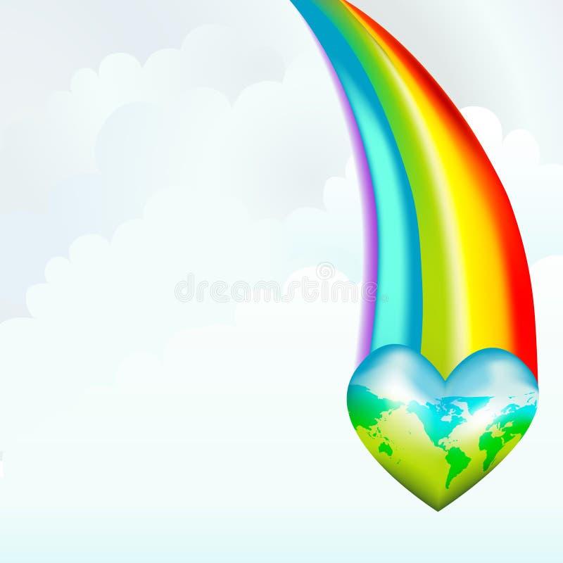 彩虹拯救世界 向量例证