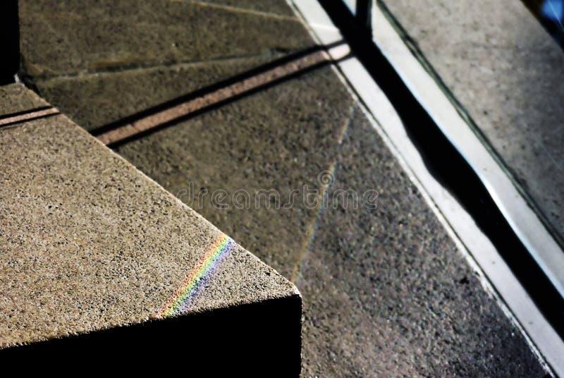 彩虹接触  库存图片