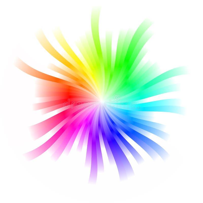 彩虹旋转 皇族释放例证