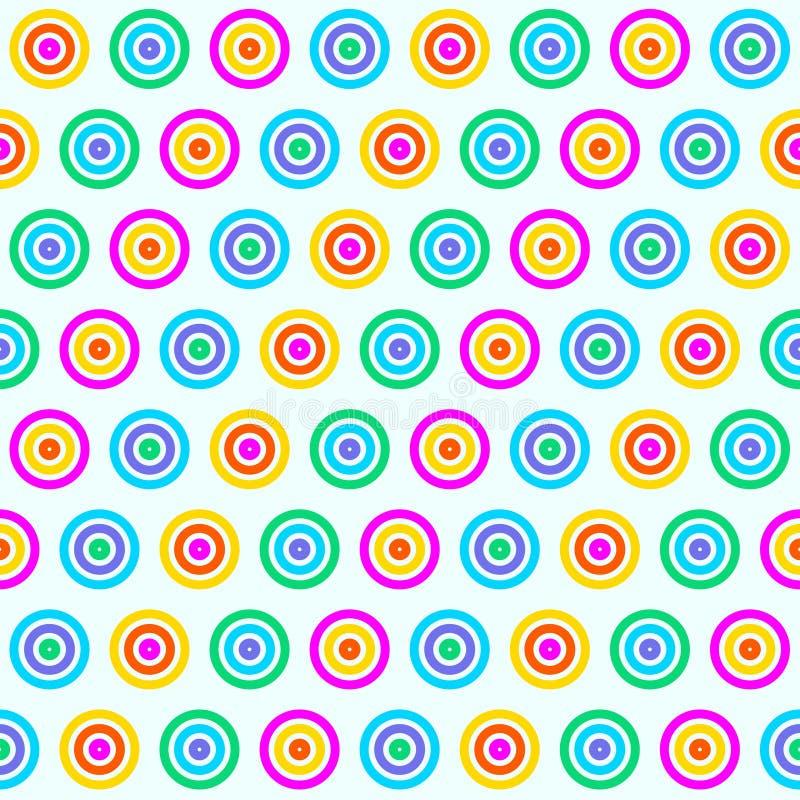 彩虹无缝色环的样式 皇族释放例证