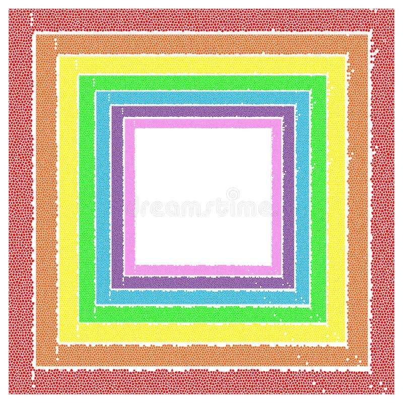 彩虹框架 库存照片
