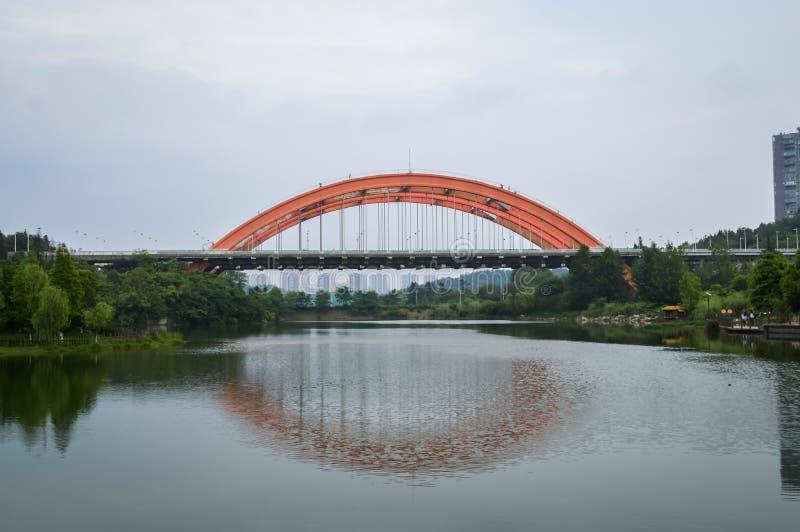 彩虹桥梁在贵阳 免版税库存图片