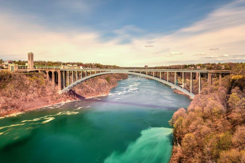 彩虹桥-尼亚加拉瀑布,纽约 免版税图库摄影