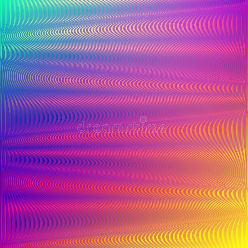 彩虹梯度背景小故障作用 全息照相的霓虹背景呈虹彩软的背景 伟大为现代网 皇族释放例证