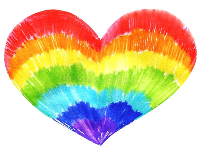 彩虹没有性别心脏 库存例证