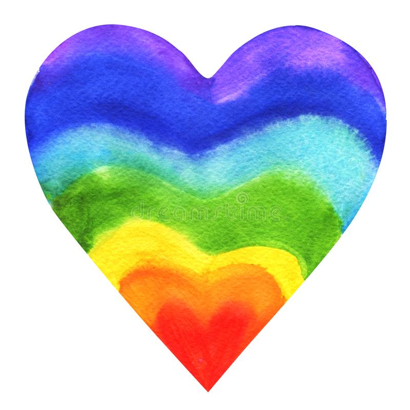 彩虹没有性别心脏 皇族释放例证