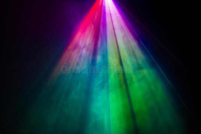 彩虹烟聚光灯 库存图片