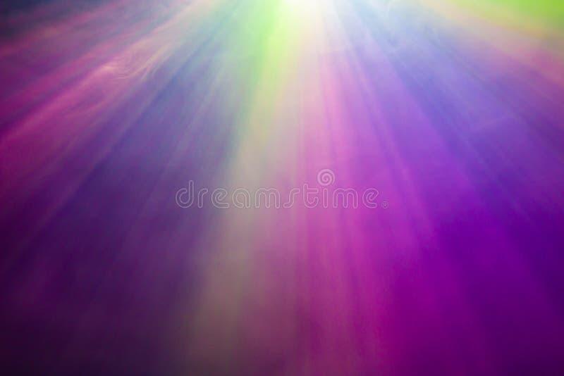 彩虹烟聚光灯 免版税图库摄影