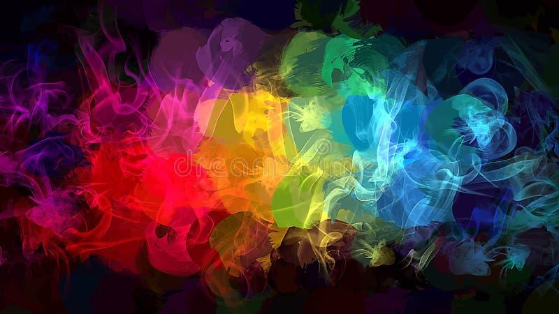 彩虹烟背景 美国人装饰设计爱国集合符号向量版本 库存例证