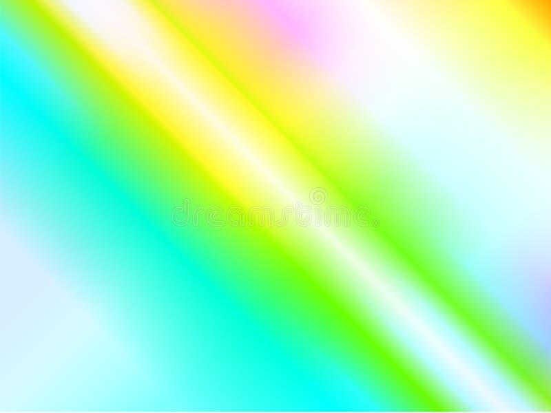 彩虹焕发光的反射 全息照相的分散作用和反射在玻璃 向量例证