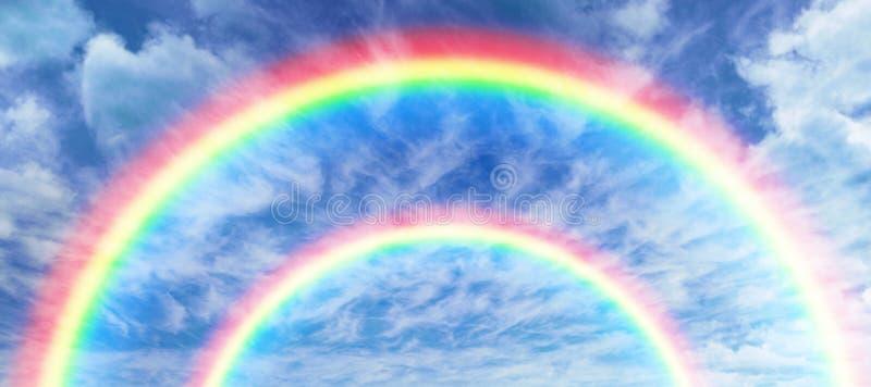 彩虹的数位引起的图象的综合图象 免版税库存照片