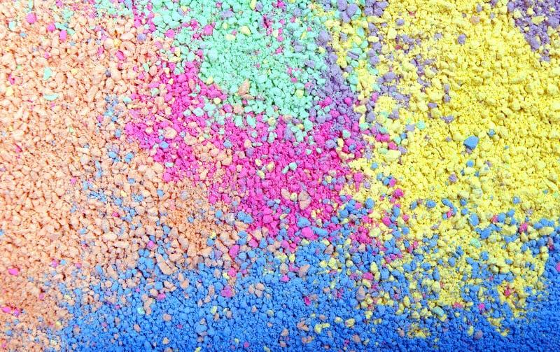 彩虹的颜色 多色粉末纹理背景 免版税图库摄影