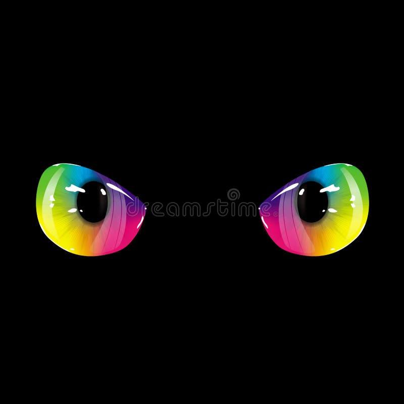 黑彩虹眼睛 库存例证