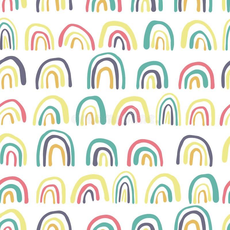 彩虹线无缝的样式 r 库存例证