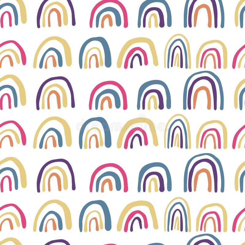 彩虹线无缝的样式 r 向量例证