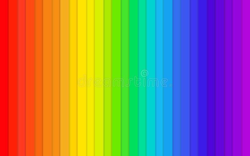 彩虹背景桌色板显示 免版税库存照片