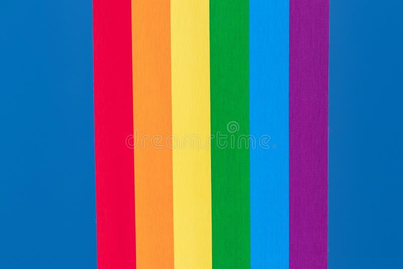 彩虹背景织品 彩虹与五颜六色的织地不很细prallel垂直线织品宏指令的亚麻帆布特写镜头  ?? 图库摄影