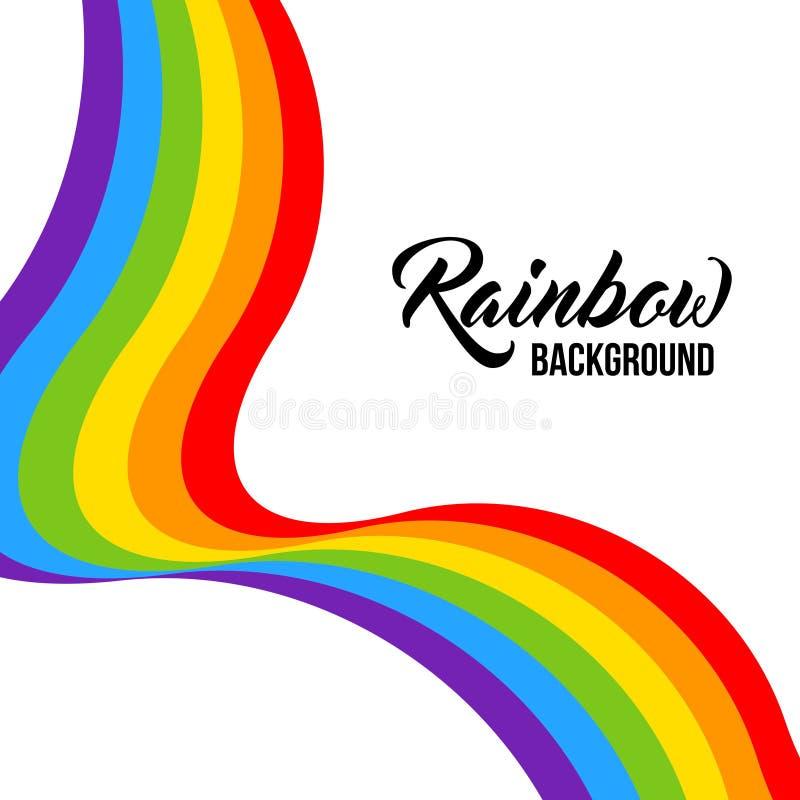 彩虹背景, LGBT颜色 库存例证