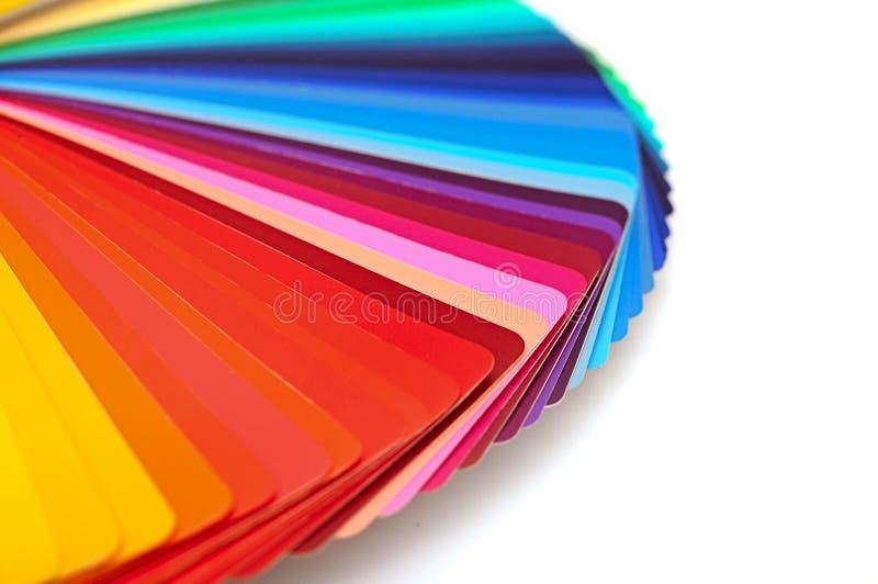 彩虹色板显示 免版税库存照片