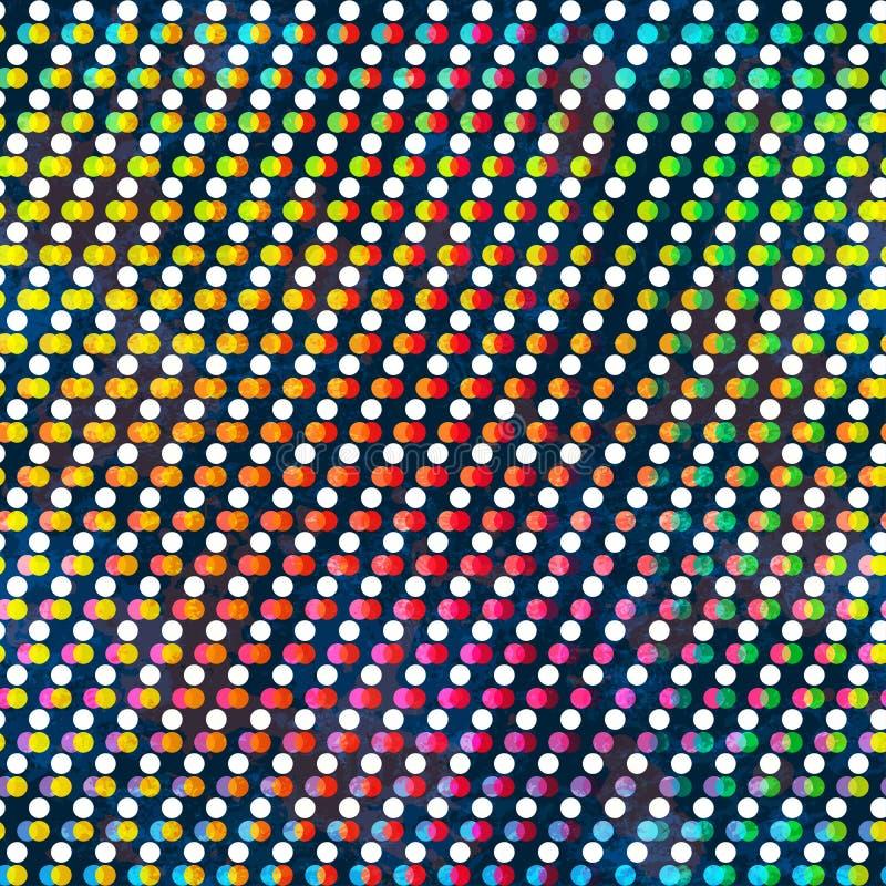 彩虹色环无缝的样式 皇族释放例证