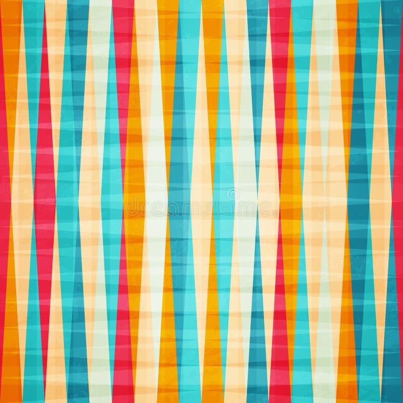 彩虹菱形无缝的样式 库存照片