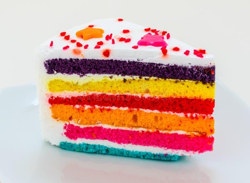 彩虹蛋糕 免版税库存图片