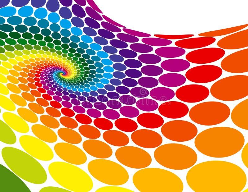 彩虹螺旋通知 库存例证