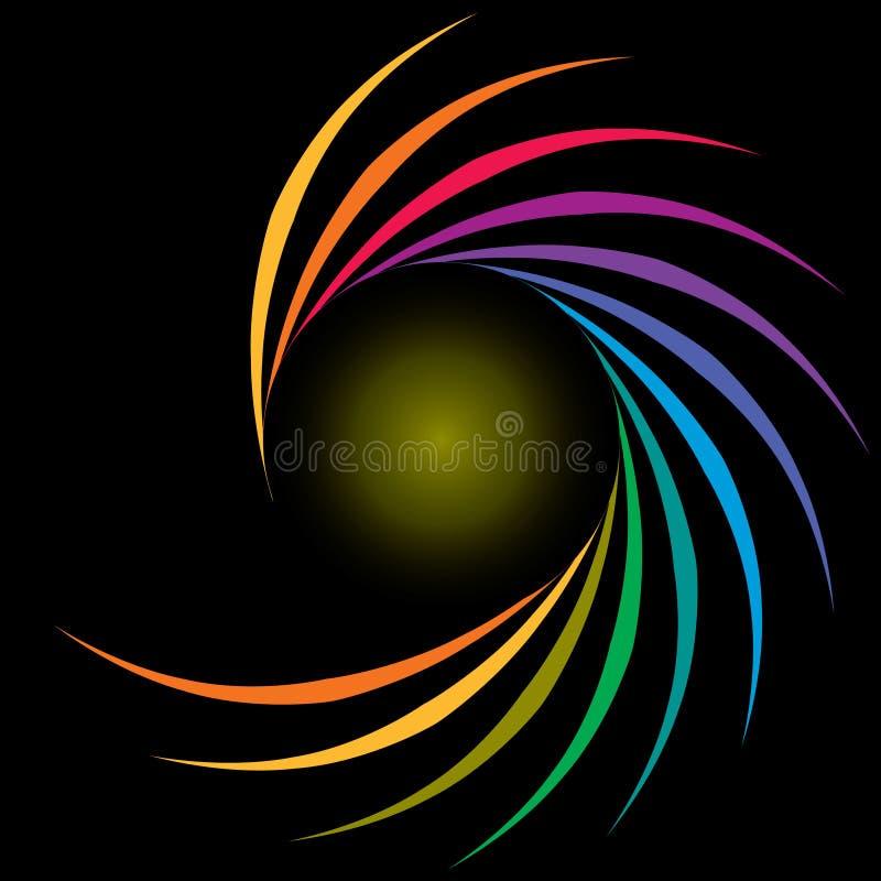 彩虹螺旋 库存例证