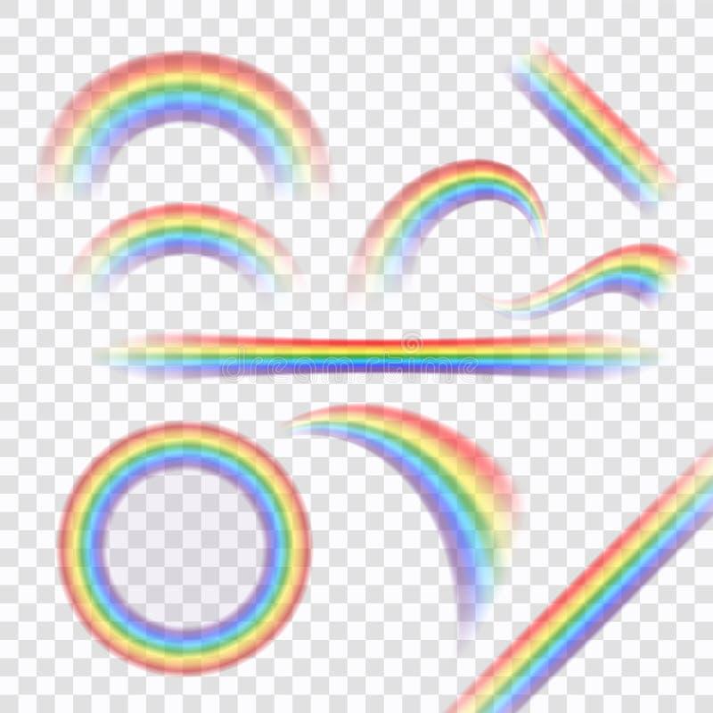 彩虹象设置了现实 向量例证