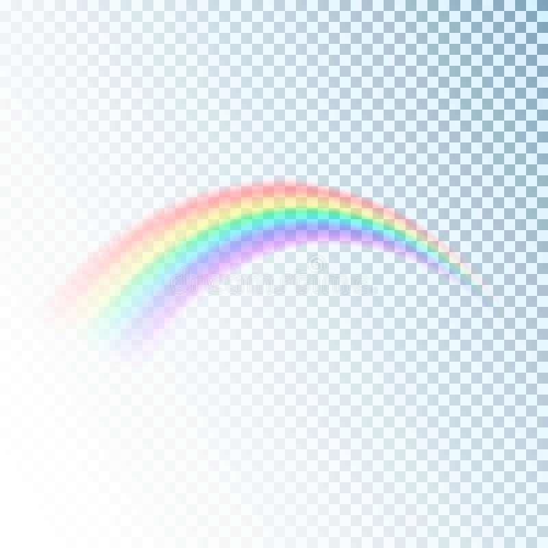彩虹象 五颜六色的光和明亮的设计元素装饰的 抽象彩虹图象 在tra隔绝的传染媒介例证 向量例证