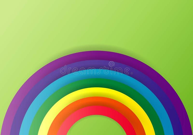 彩虹象 曲拱光谱 现代平的图表,事务,营销,互联网概念 网的时髦简单的传染媒介标志 皇族释放例证