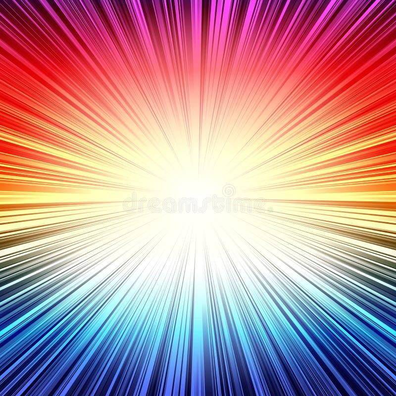 彩虹辐形条纹爆炸爆炸背景 库存例证