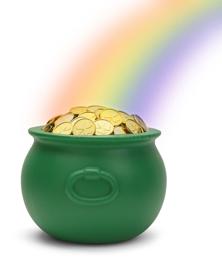 彩虹金壶 库存图片