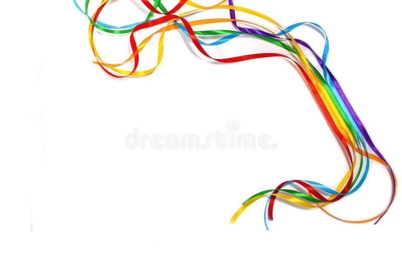 彩虹颜色丝带了悟,平等权利的符号颜色商标象在爱和婚姻社会平等 库存图片