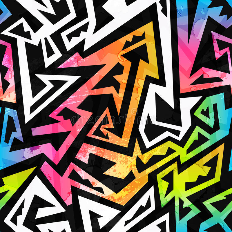 彩虹颜色几何无缝的样式 皇族释放例证