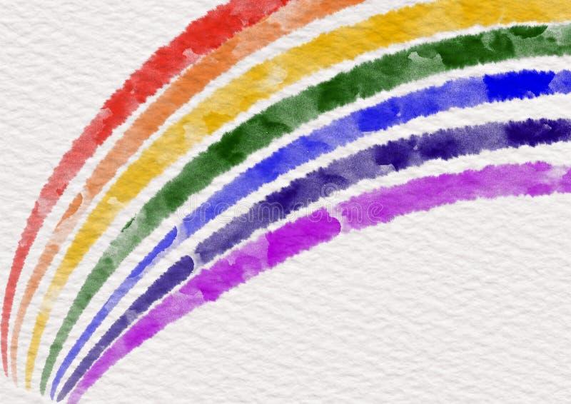 彩虹颜色在白皮书纹理下降了 库存图片