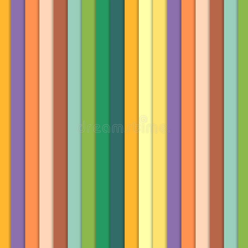彩虹颜色墙纸,例证五颜六色的条纹 库存例证