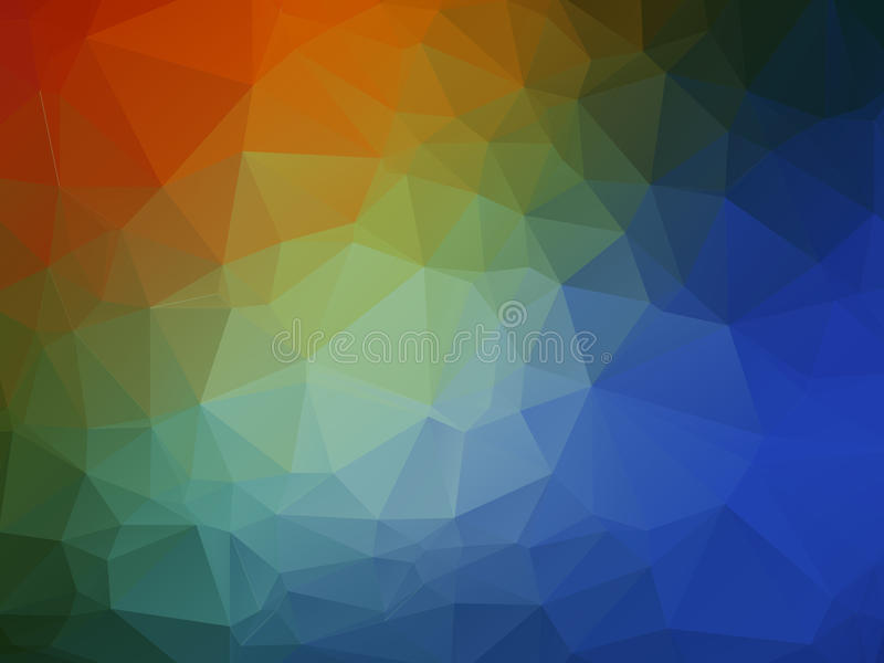 彩虹颜色摘要多角形几何 库存照片