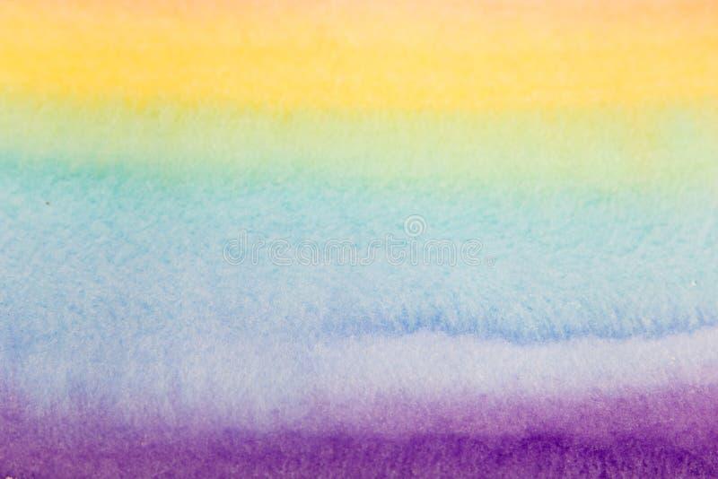 彩虹水彩艺术背景 免版税库存照片