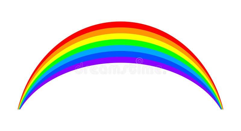 彩虹-股票的 向量例证