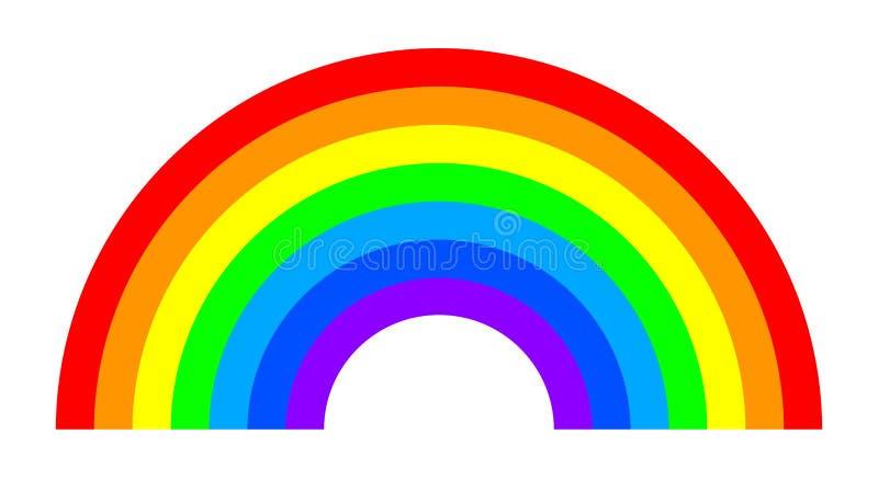 彩虹-股票 向量例证
