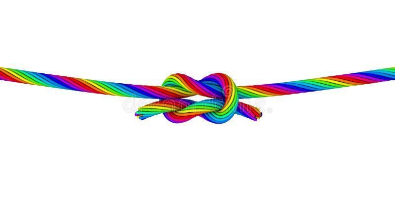 彩虹Knot_C 向量例证