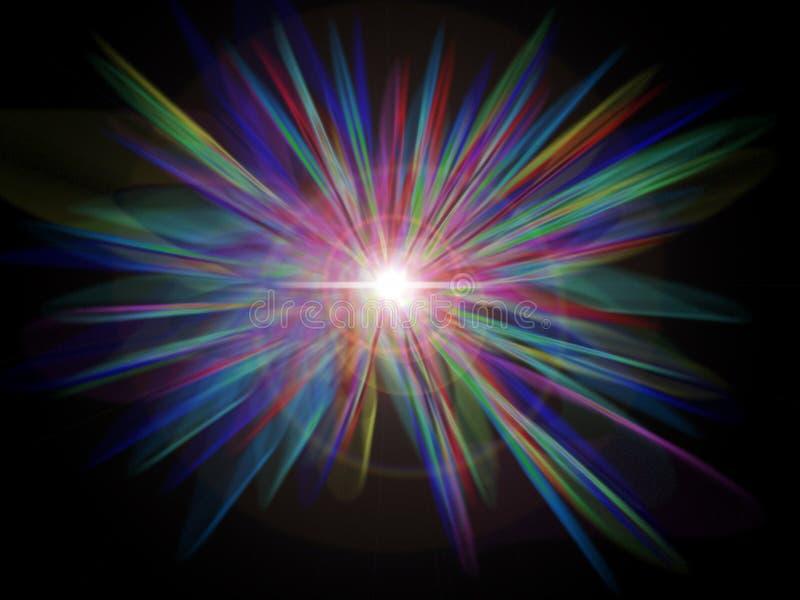 彩虹starburst 向量例证
