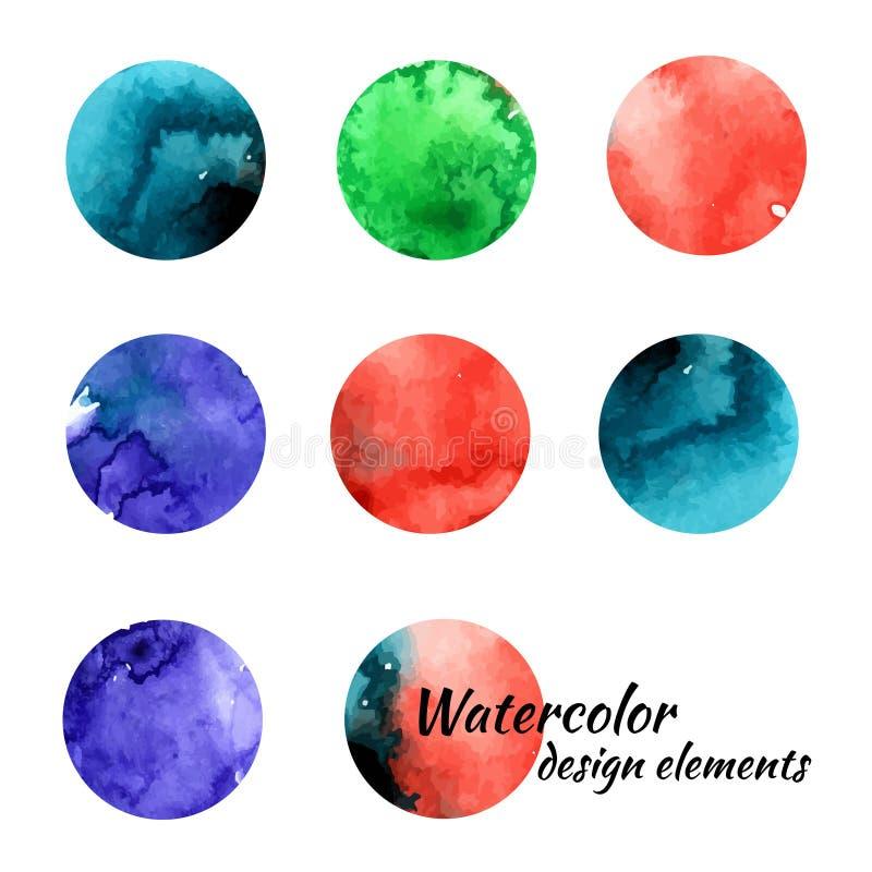 水彩设计元素 库存例证