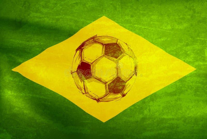 水彩足球,世界杯2014年 向量例证