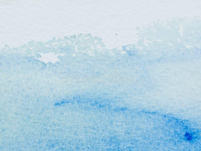 水彩颜色和纹理在纸的 向量例证