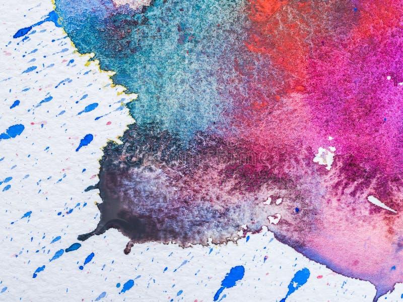 水彩颜色和纹理在纸的 库存例证