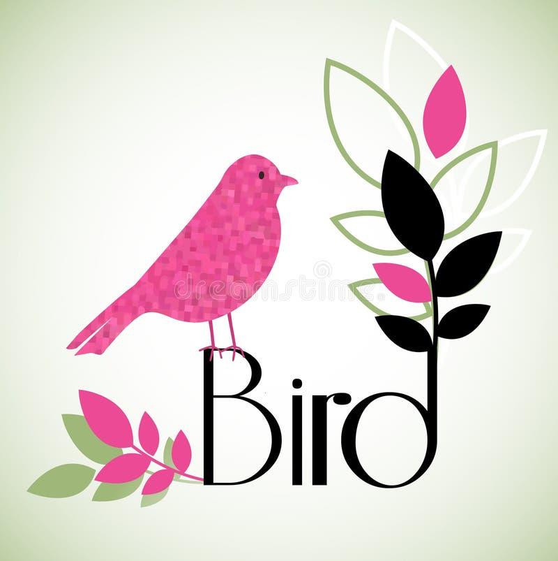 水彩鸟 库存例证